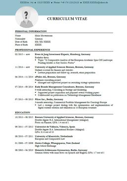 Curriculum Vitae Englisch Klasse 9 Vorlagen Lebenslauf Lebenslauf Lebenslauf Layout