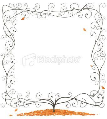 Autumnal leaf/vine frame.