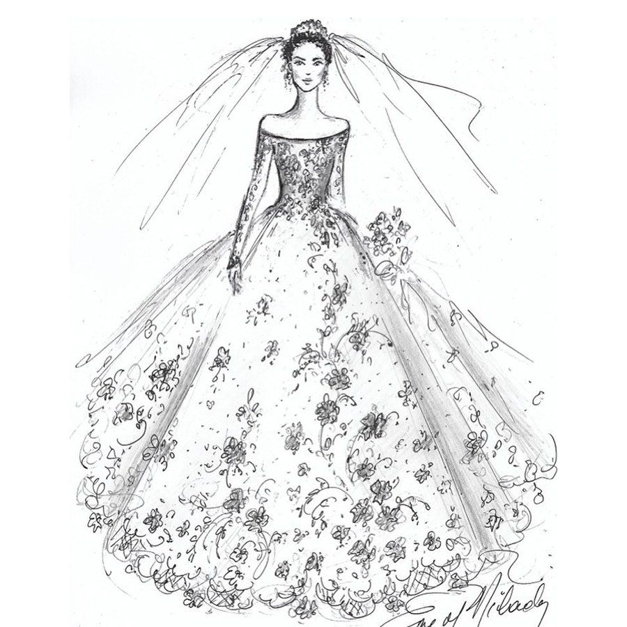 Sketches Of Wedding Gowns: Meghan Markle's Wedding Dress Will Look Like This