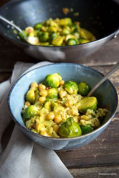 Photo of Brussels sprouts curry with chickpeas – madame cuisine