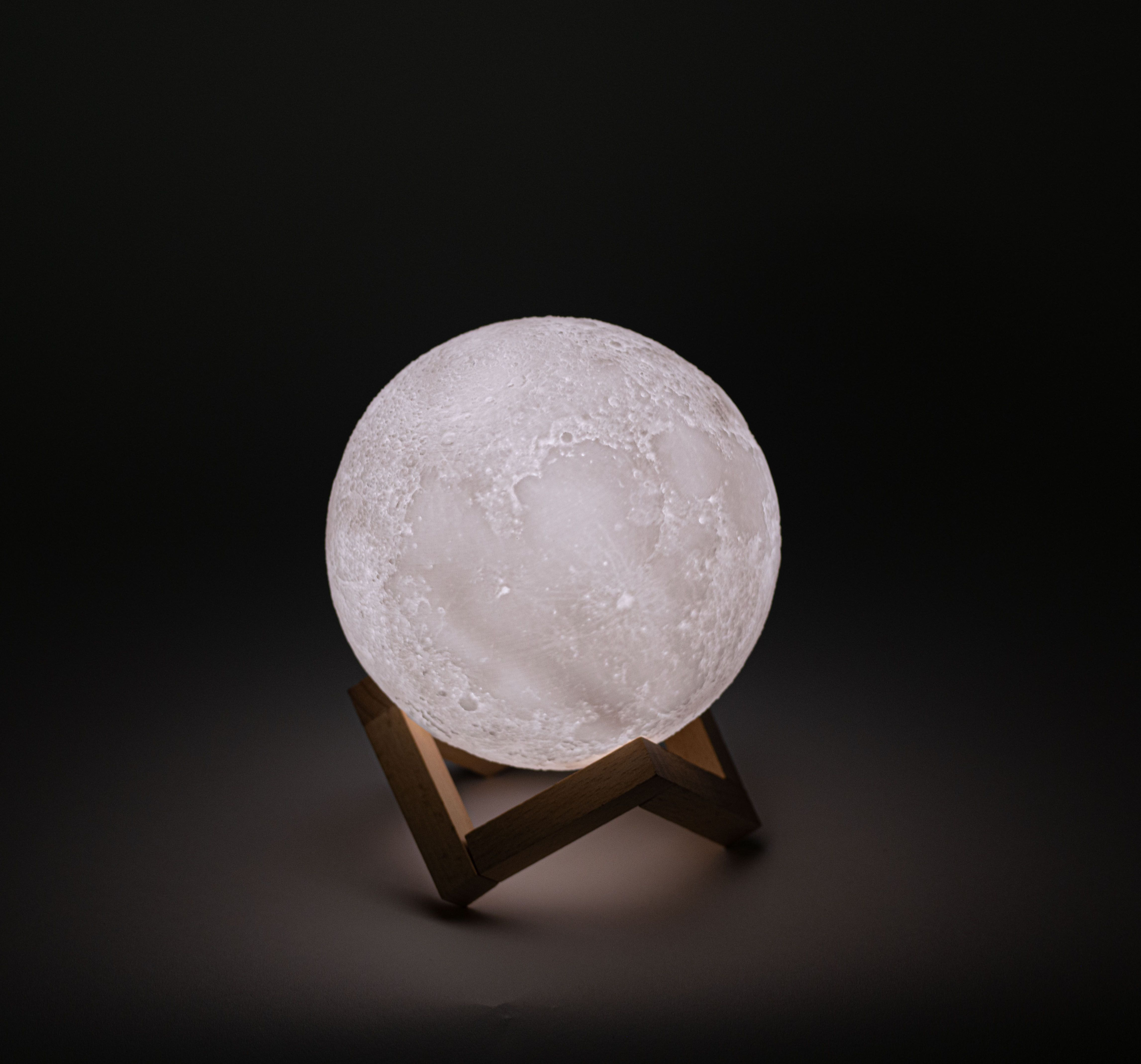 3d Printed Moon Lamp With Stand 6 Inches Dimmable Rechargeable Touch Led Night Light Walmart Com Led Night Light Night Light Lamp
