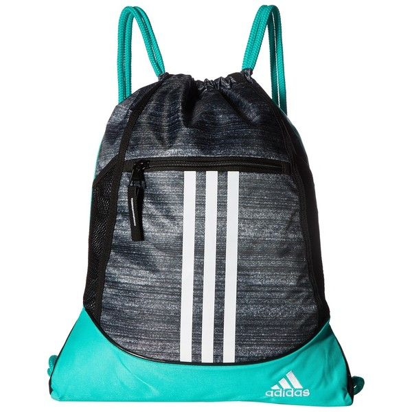 201adb0b521d adidas Alliance II Sackpack (Noise Black Shock Mint White Black) Bags ( 15)  ❤ liked on Polyvore featuring bags