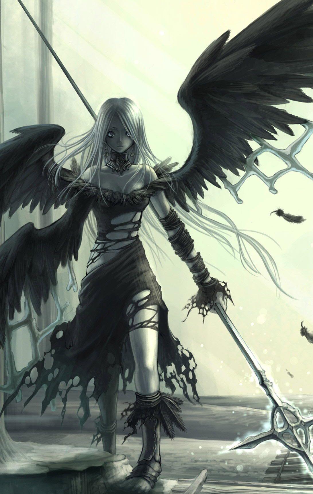 abuan.jpg~original (8×8)  Dark anime, Anime fallen angel