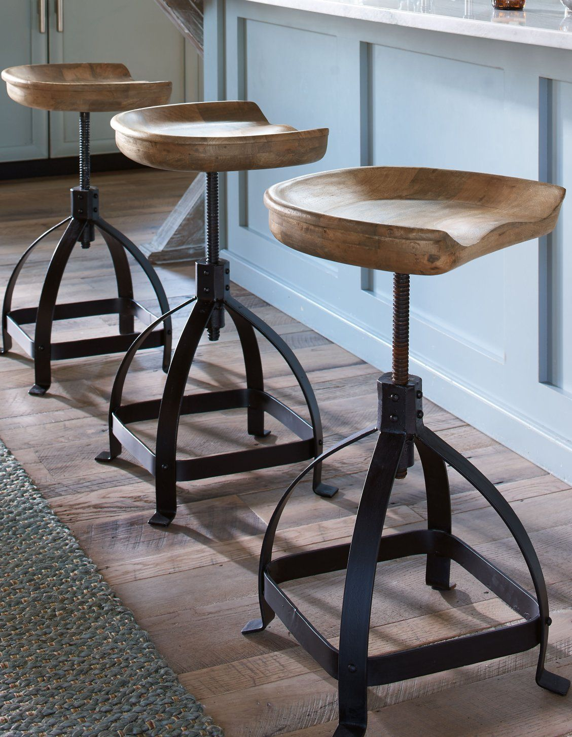 Heard Of Farm To Table Well How About Tractor To Table We Handcarved The Iconic Tractor Seat Like The One Your Counter Stools Kitchen Counter Stools Stool