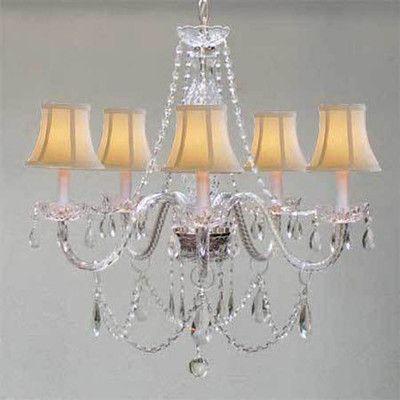 Harrison Lane Royal 5 Light Swarovski Crystal Chandelier Shade Color: