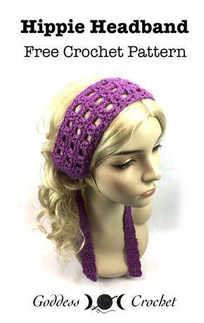 Hippie Headband - Free Crochet Pattern | crochet patterns ...