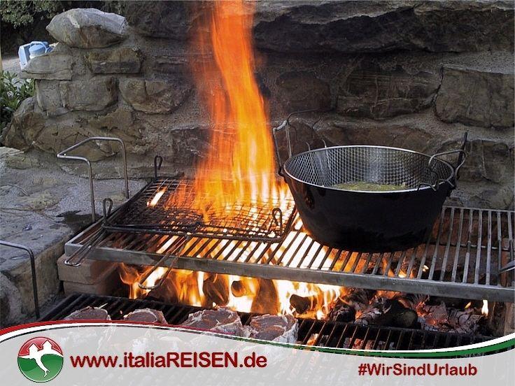 Offener Grillbereich auf dem schönen Landgut im Herzen der Alta - pizzaofen mit grill