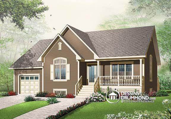 Plan de Maison unifamiliale W3261, D\u0027allure champêtre à la fois fort