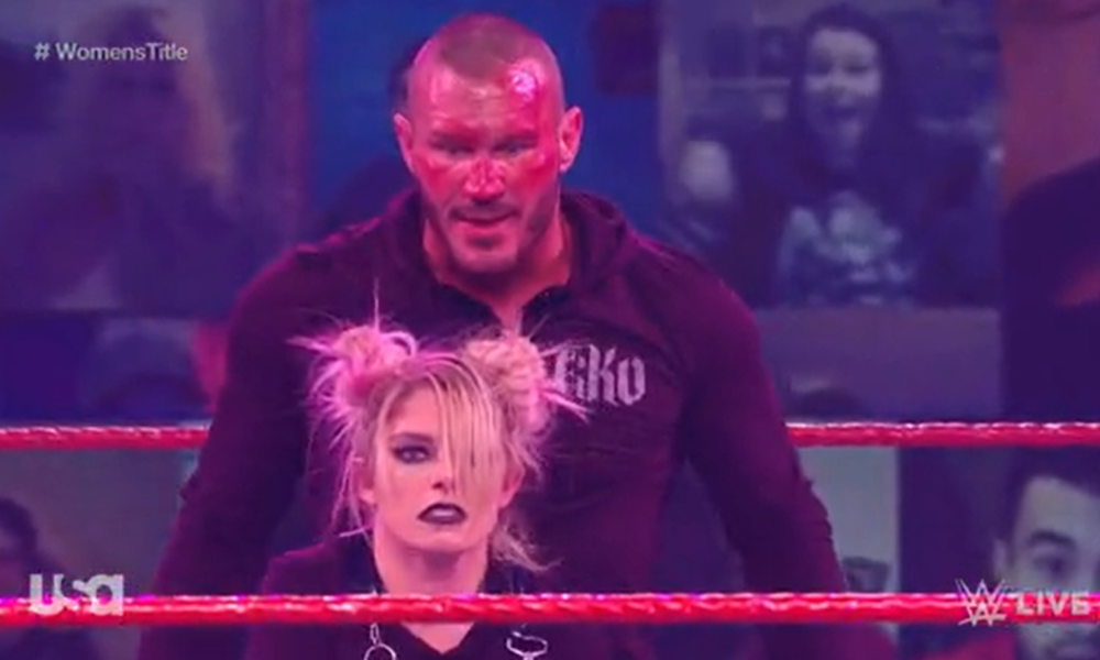 Randy Orton Hits Alexa Bliss With The Rko During Wwe Raw Main Event Wrestling News In 2021 Randy Orton Wrestling News Wwe