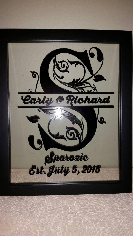 Wedding Frame, Monogram Frame, Personalized Frame, Floating Frame ...