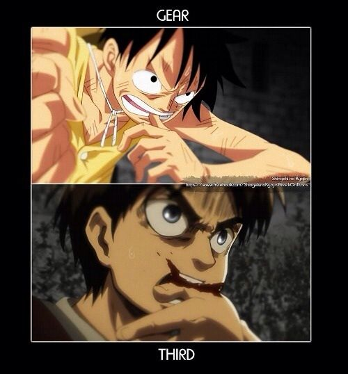 Similarity between one piece and attack on titan