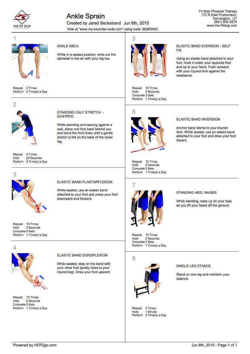 Ankle Sprain 100 Pinterest Challenge Summer 2017 Ankle