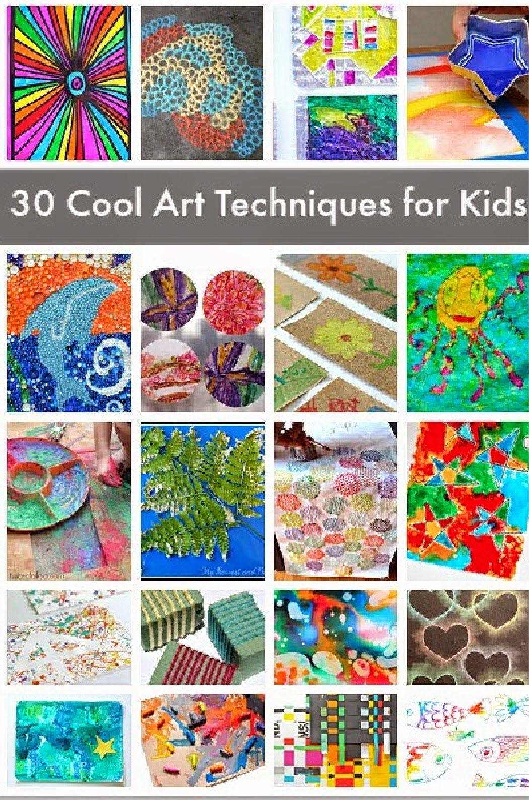 30 Creative Art Techniques For Kids Kids Art Unique Art