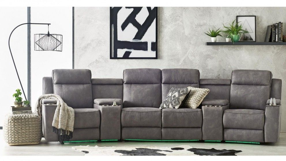 Buy Thorndon 4 Seater Powered Fabric Recliner Sofa Harvey Norman