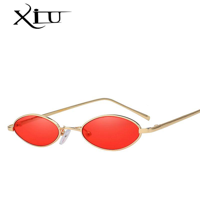 d21b328f81e0 XIU Vintage Sunglasses Women Cat Eye Luxury Brand Designer Sun Glasses  Retro Small Red Ladies Sunglass Black Eyewear UV400 Review