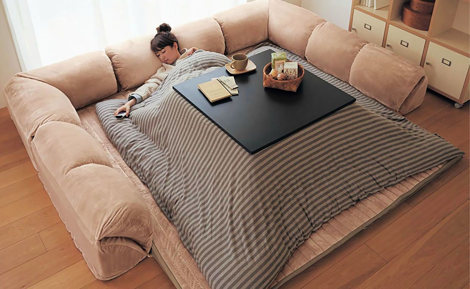 Slay Winter With A Heated Kotatsu Table Bed From Japan Mebel
