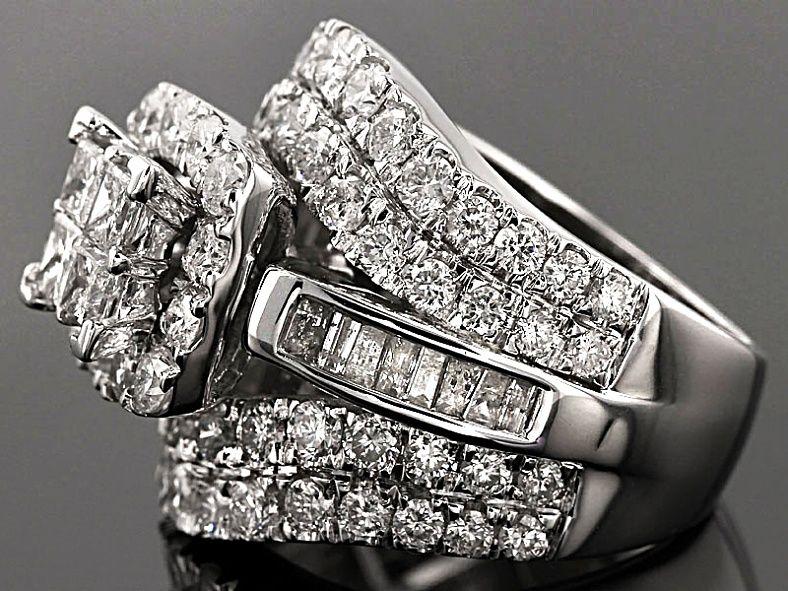 Diamond 10k White Gold Ring 4 12ctw Kdg056 Jtv Com White Gold Rings White Gold Gold Rings