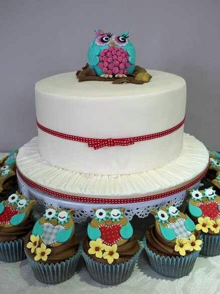 Mommy Owl Cake Topper with Owlette Cupcakes   Cake ...