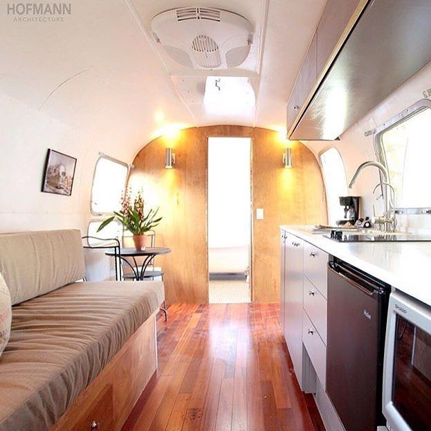 hofarc airstream trailer remodeled into a modern living space by