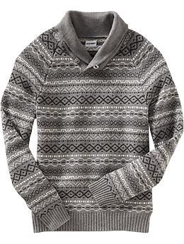 Men s Fair Isle Shawl-Collar Sweaters  56adda1d8310