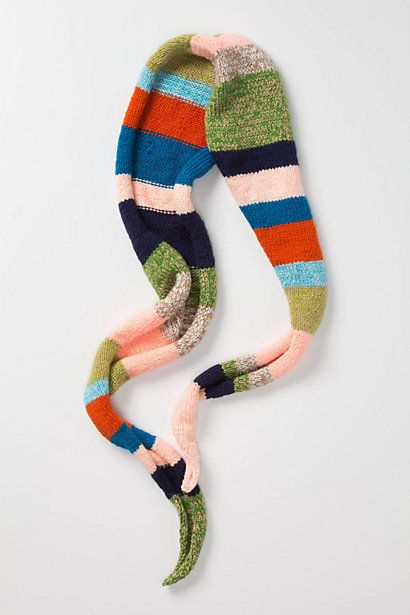Kite-Striped Scarf #anthropologie    I think I could pull this off with scrap yarn. Very cute concept.