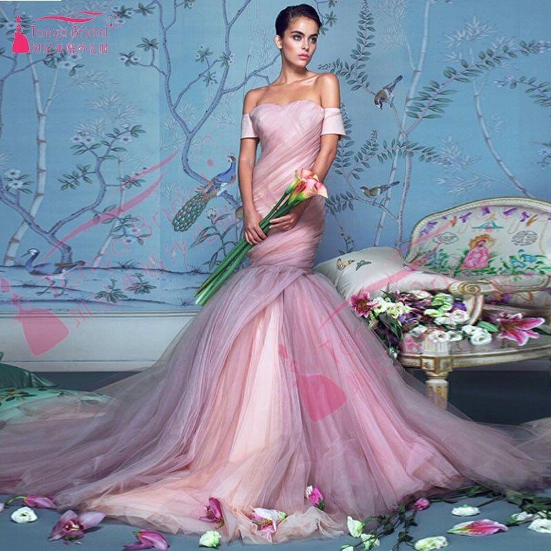 Aliexpress.com : Buy Pink Wedding Dress Mermaid Wedding gowns ...