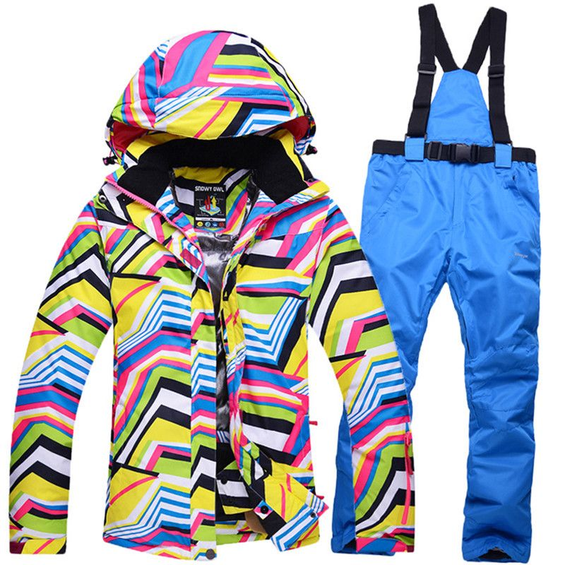 7 colors 4 sizes winter jacket pants warm ski suit sets women waterproof  breathable skiing snowboard jacket+skiing trousers 646c5472c