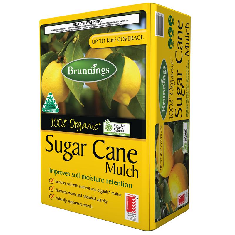 Brunnings Sugar Cane Mulch 11kg 18m2 31599 in 2020 Mulch
