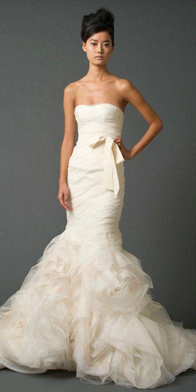 Floral Train Wedding Dress