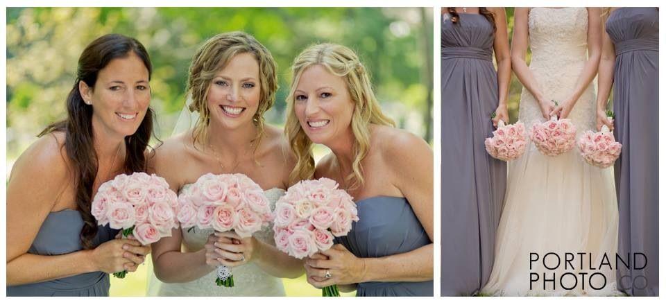 Www.portlandphotocompany.com    Chapel wedding in Maine #pink #wedding