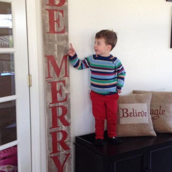 Large Wood Christmas Sign Pottery Barn Inspired