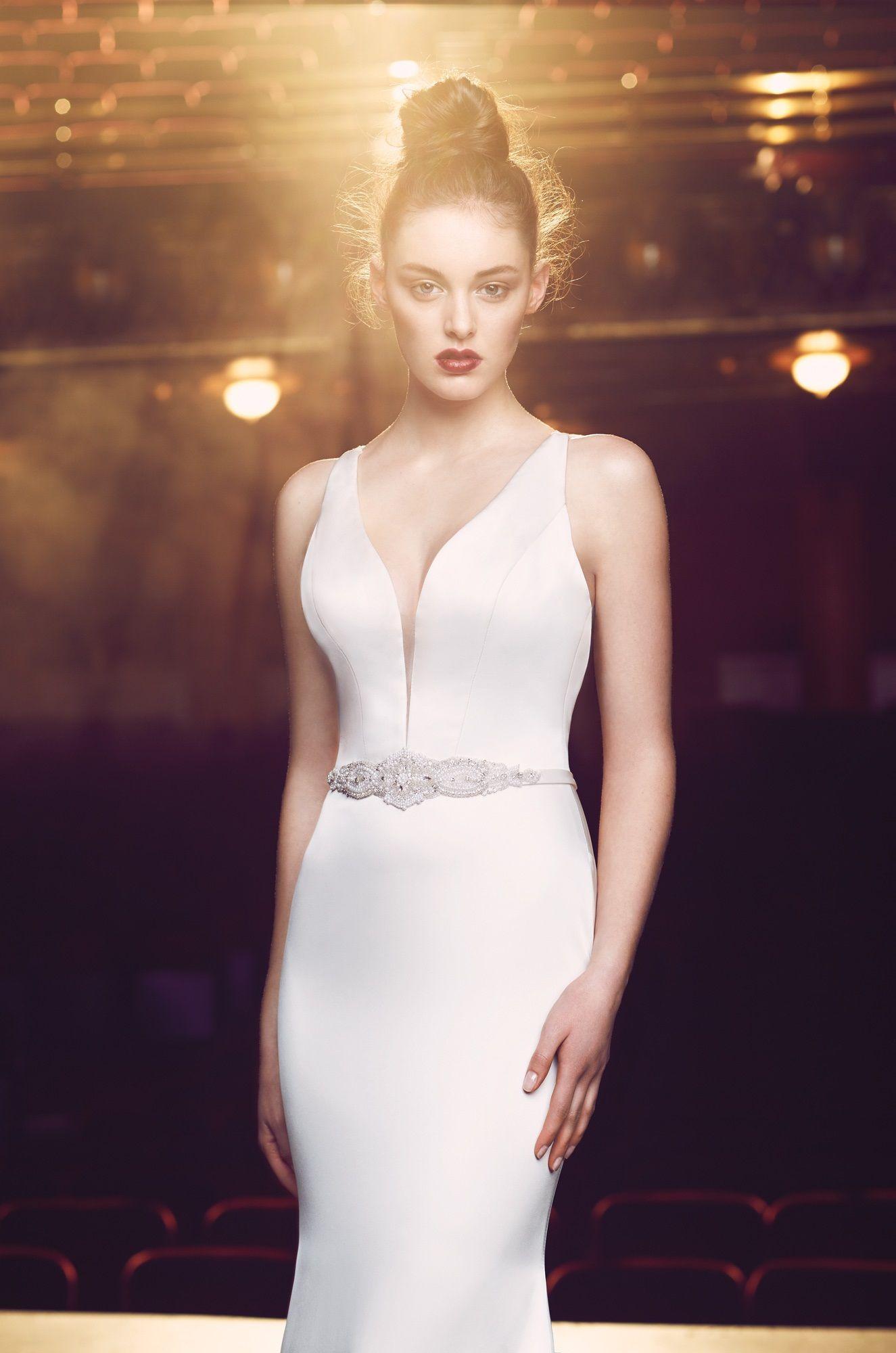 Plunging neckline wedding dress style wedding pinterest