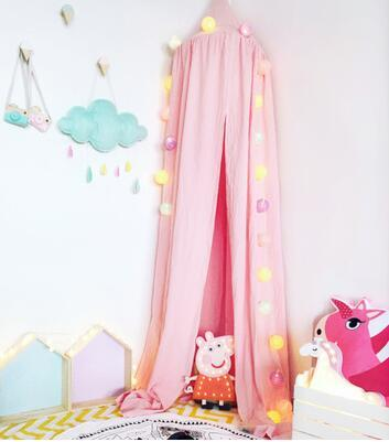 beige white grey pink kids boys girls princess canopy bed valance kids room decoration baby bed round mosquito net tent curtains products pinterest