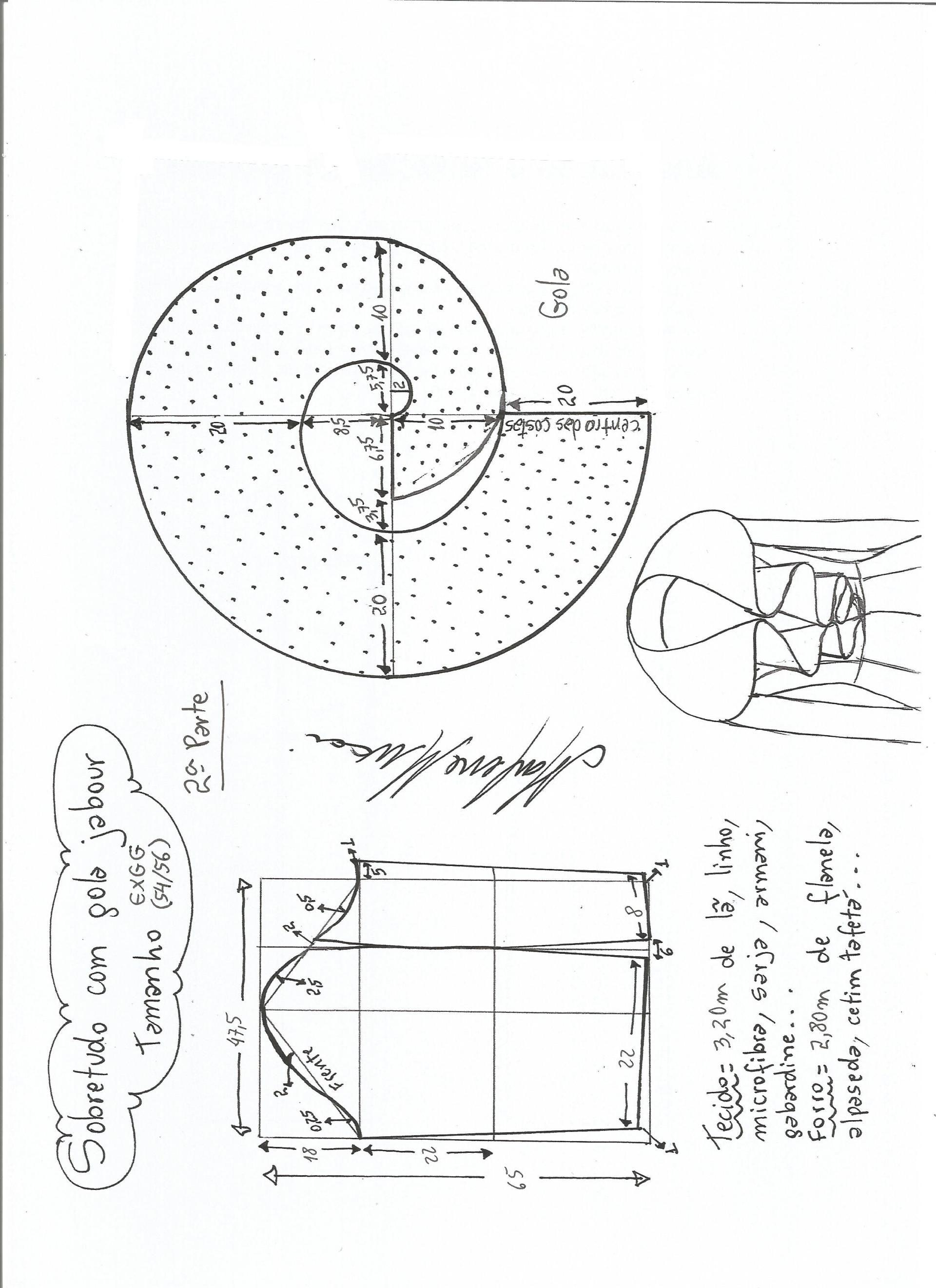 abrigo-cuello-jabour2aparte-xxxl | nociones de costuras | Pinterest ...