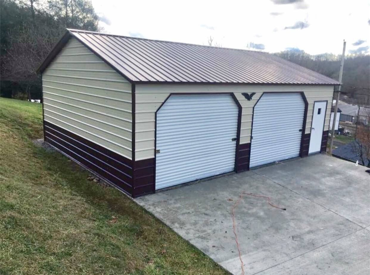24x31x9 Vertical Dual Side Entry Garage Metal Buildings Garage Design Raised Bed Garden Design
