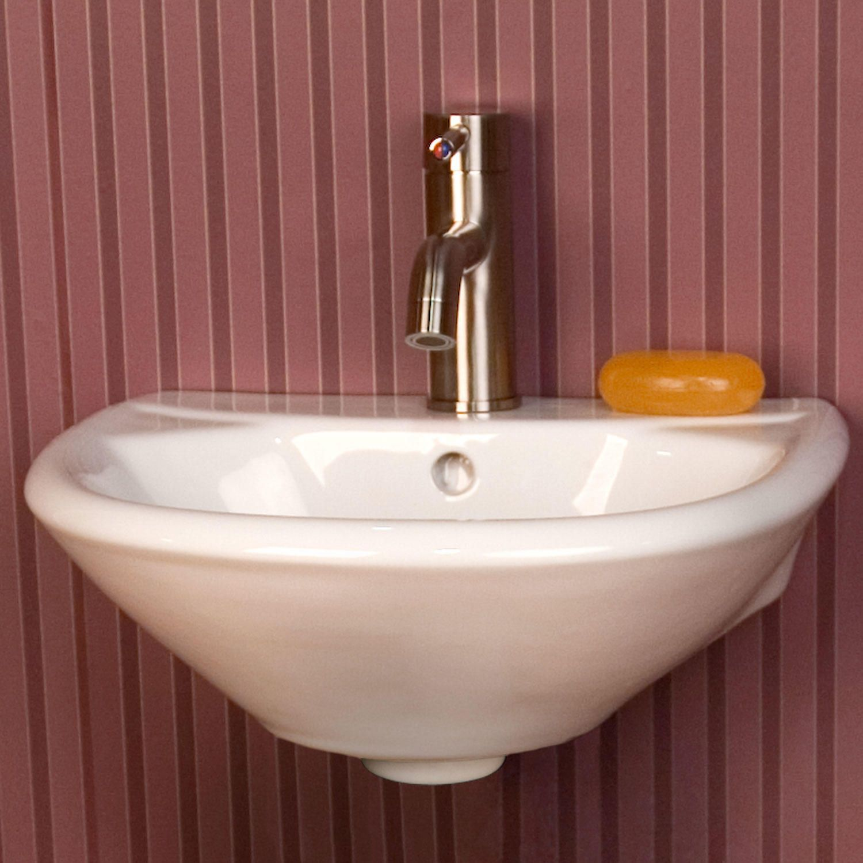 Farnham Mini Porcelain Wall Mount Bathroom Sink Wall Mounts