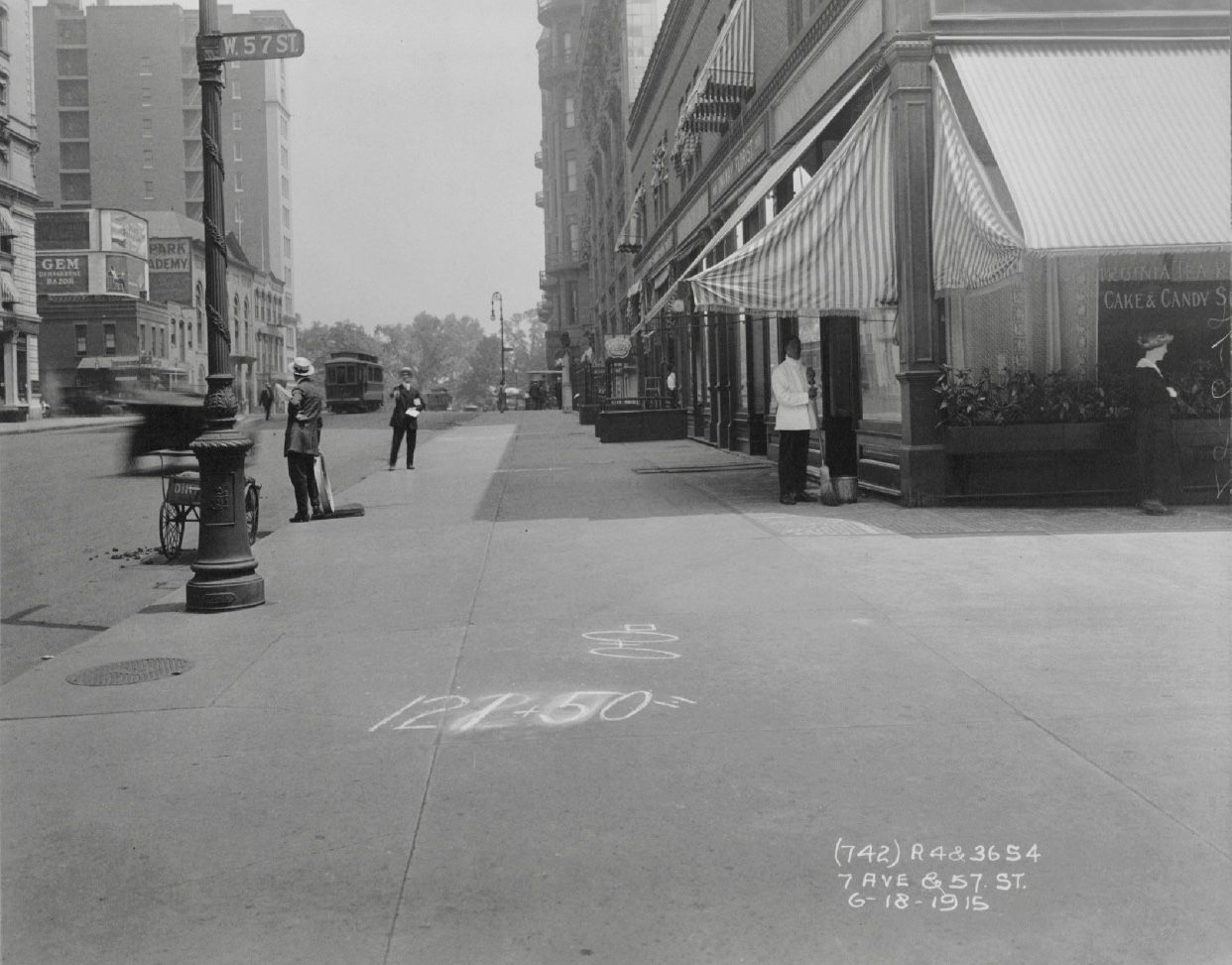 7th Avenue And 57th Street June 18th 1915 Borough President Of Manhattan Collection