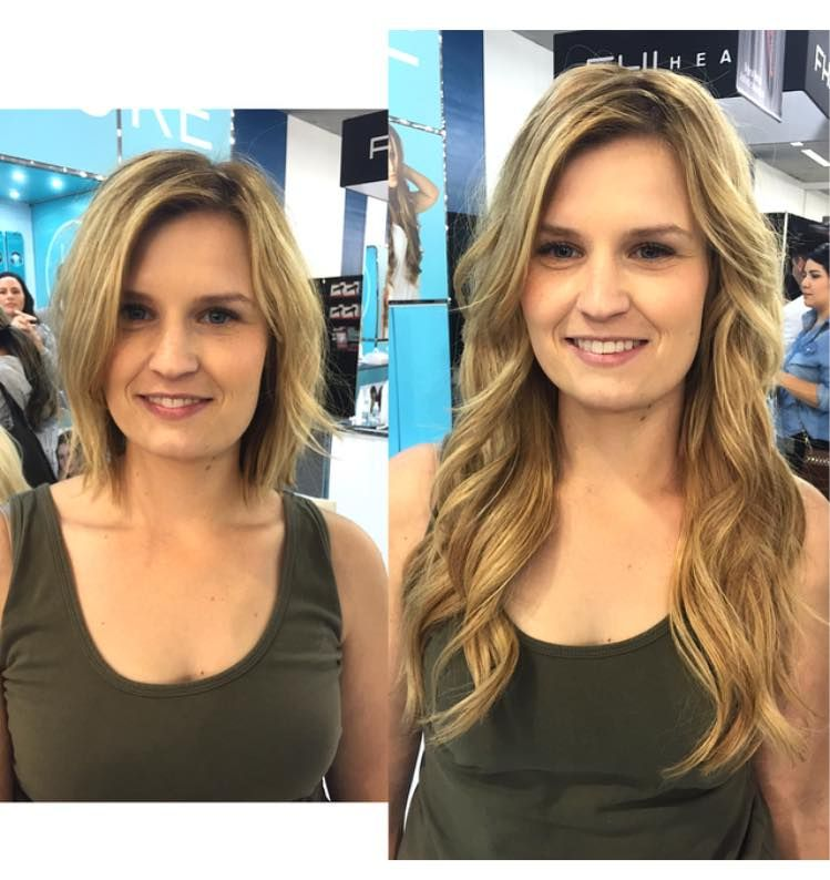 Before And After Hair Extensions Before And After Tape In Hair Extensions Perfect Hair Color