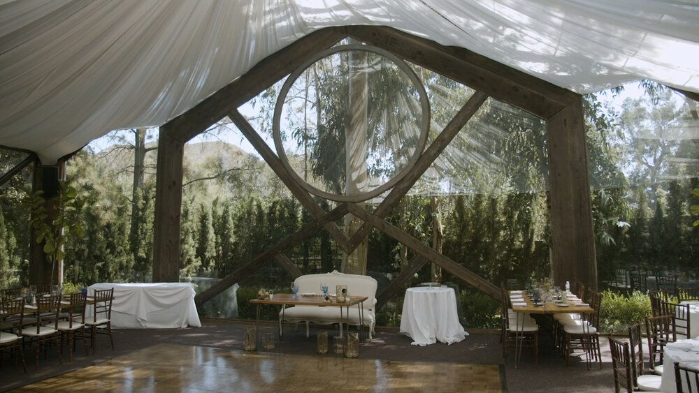 Stephanie + Eric The Oak Room at Calamigos Ranch Wedding