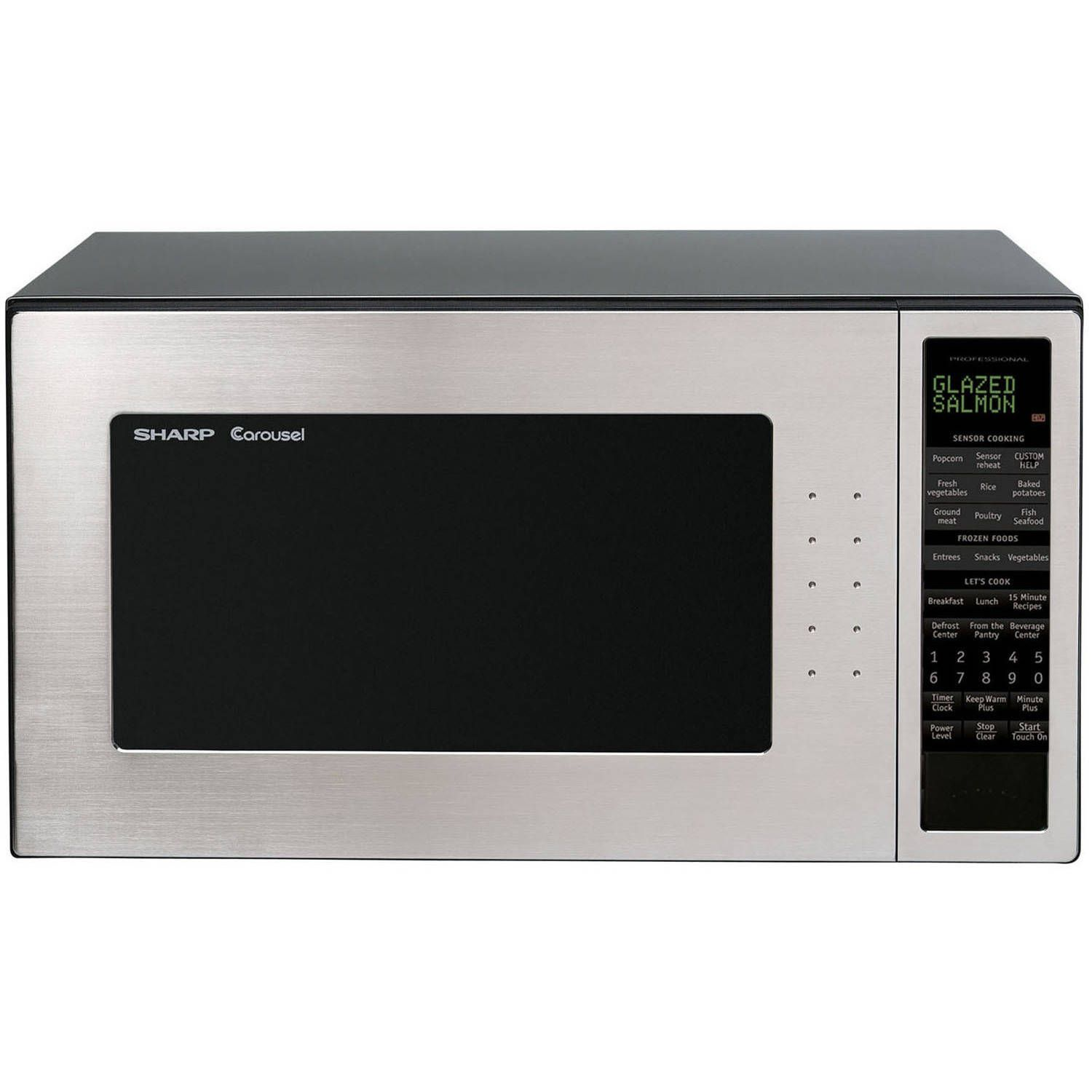 Sharp Microwave Oven Touch Key 13 Sensor Settings Beverage Center Keep Warm Plus 2 Line Interactive Display