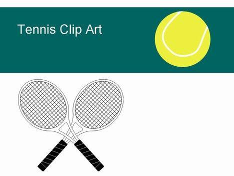 Free Tennis Clip Clip Art Ball Shoes Racket Powerpoint Template Tennis Tennis Crafts Clip Art