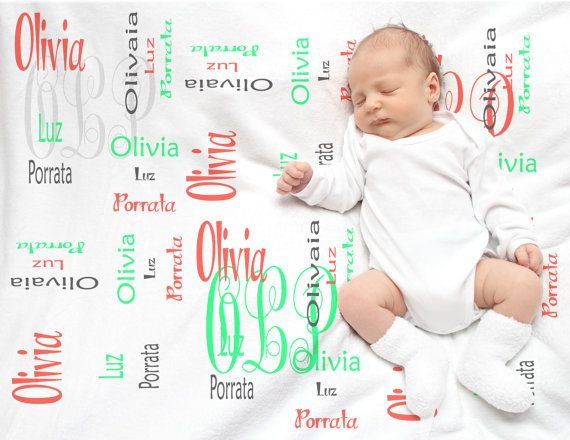 Personalized baby gift monogrammed blanket fleece blanket baby personalized baby gift monogrammed blanket by djammarmaternity negle Images