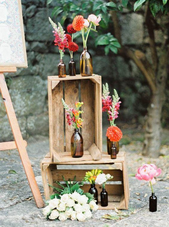 Decoración con Palets y Cajones de Madera para Bodas con Paso a Paso - bodas sencillas