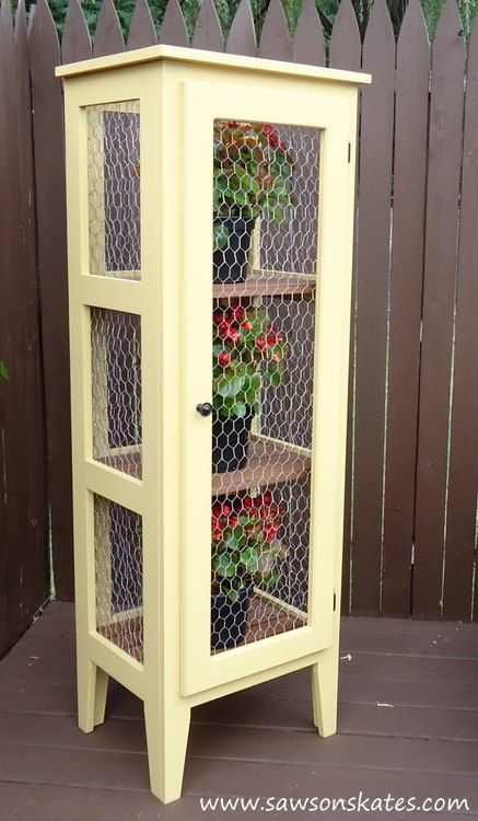 Build a Garden Cabinet for your Patio I'm not sure what I would put in this, but I lone it.