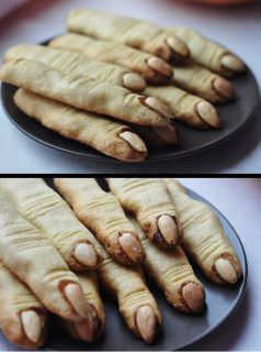Halloween Rezepte Finger.Witches Fingers Cookies Halloween Fingerfood Halloween Party Rezepte Fingerfood