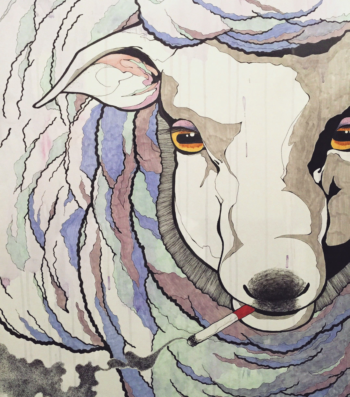 #illustration #artist #art #drawing #artwork #animal #sheep #sketch #イラスト #アート
