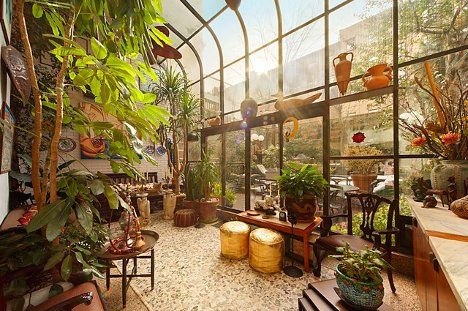 Manhattan Marvel Townhouse With A Living Room Pool Greenhouse Attached To House Garden Room Winter Garden