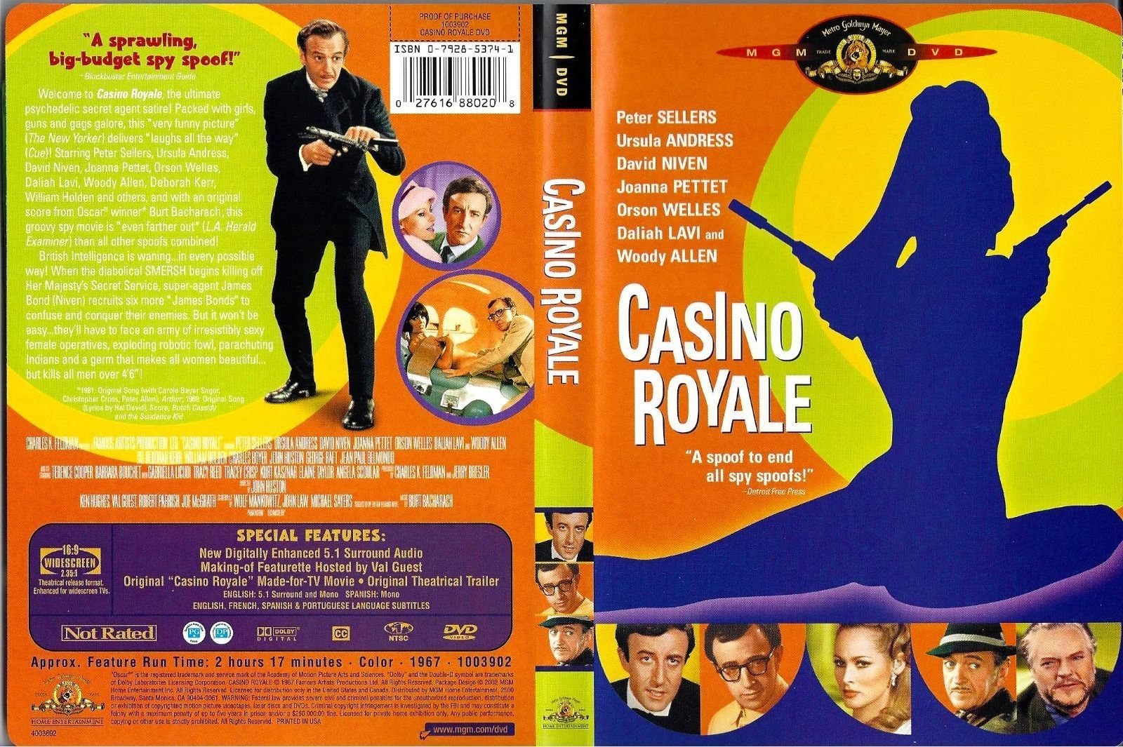 casino royale 1967 dvd