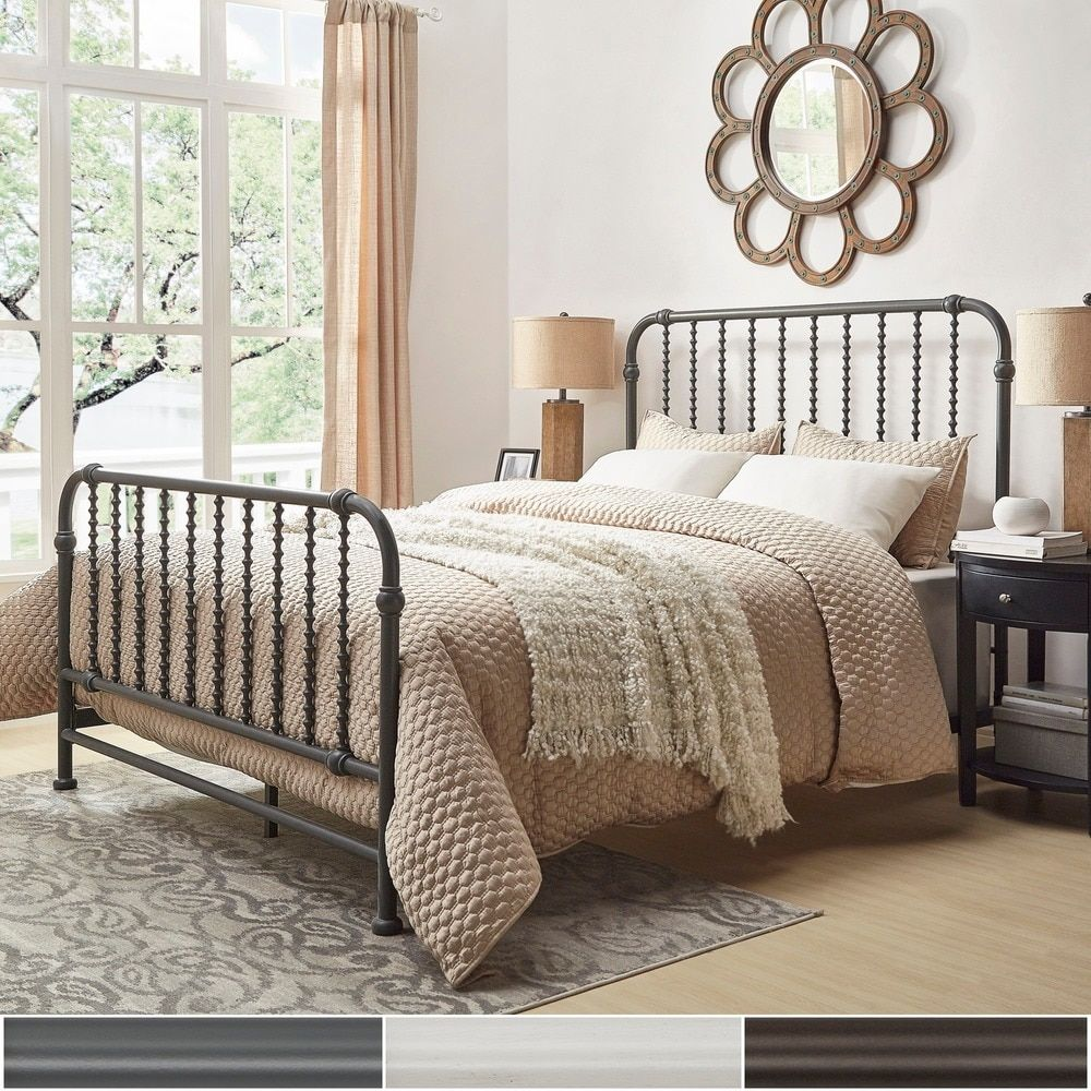 Gulliver Vintage Antique Spiral King Iron Metal Bed by INSPIRE Q. Beautiful  ...