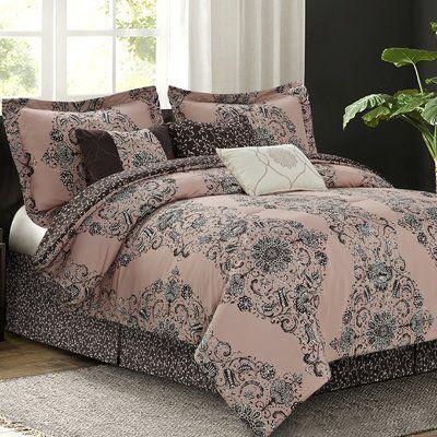 Fleur De Lis Living Cardone 7 Piece Reversible Comforter Set Size
